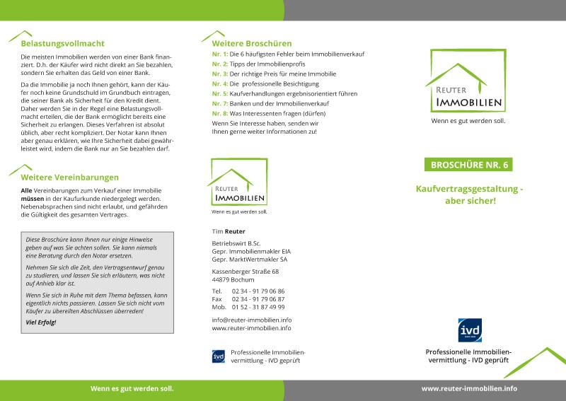 Flyer Tim Reuter - Immobilien