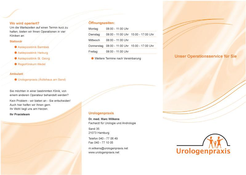 Flyer Urologenpraxis Dr. med. Marc Wilkens